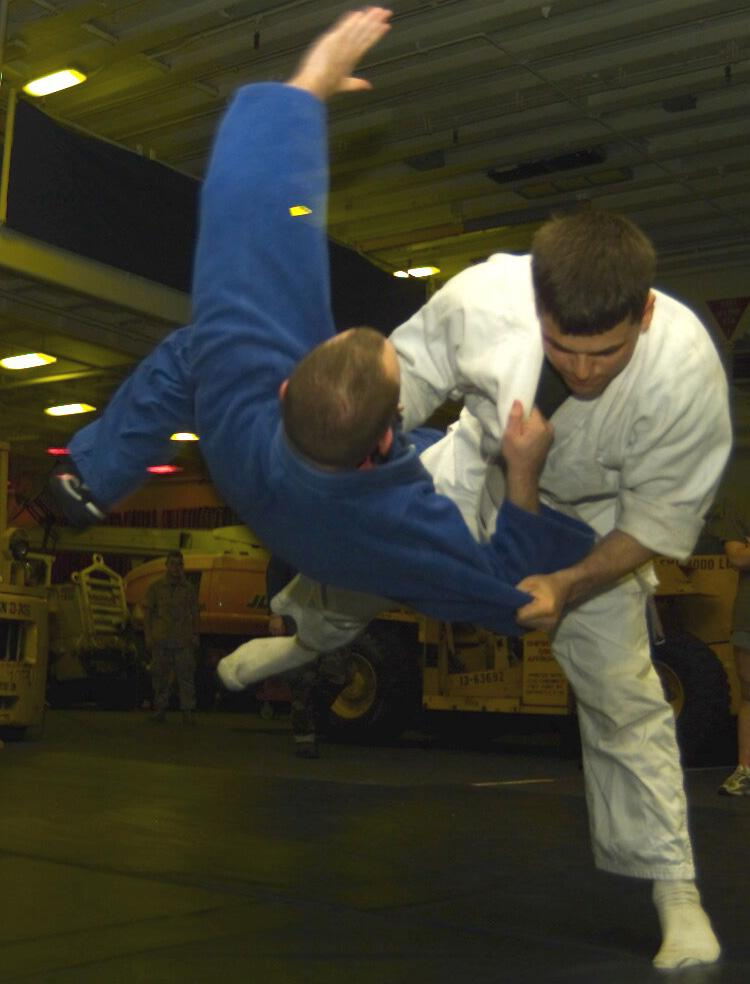 A picturing demonstrating the power of a judo throw